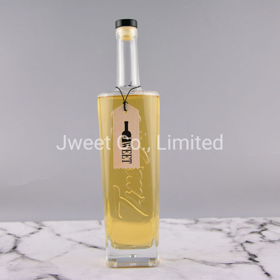 Glass Gin Bottles for Liquor with Cork 750ml