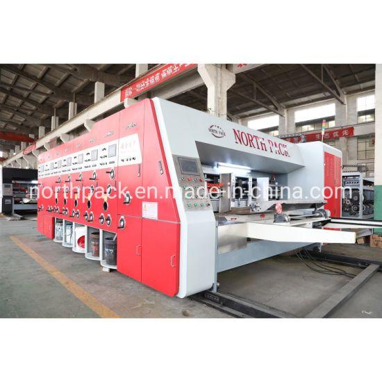 High Speed Lead Edge Flexo Ink Printing Slotting Die Cutting Corrugated Carton Make Machine