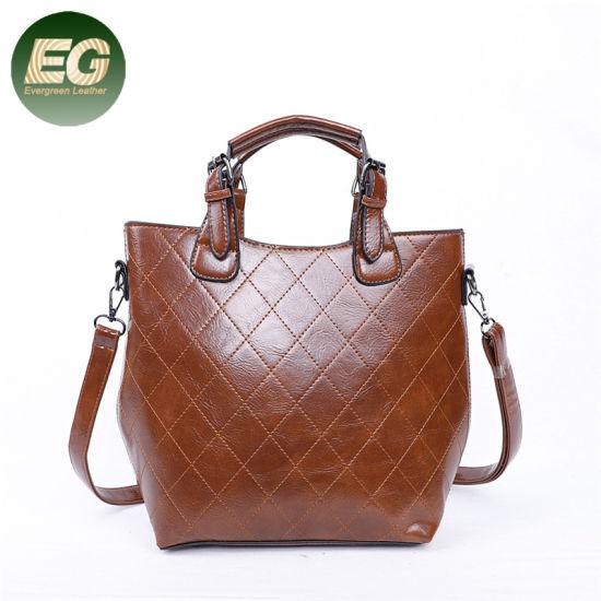 863d966045c8 New Trendy PU Leather Lattice Handbags Simple Women Bag Wholesale Sh737
