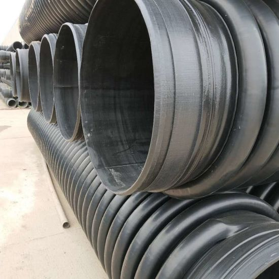 DN300-1600mm HDPE Pipe PE Irrigation Pipe HDPE Carat Spiral Corrugated Pipe