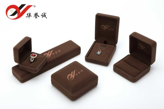 Fashion Brown Velvet Jewelry Box for Jewelry Packaging/ Ring Box /Necklace Box pictures & photos