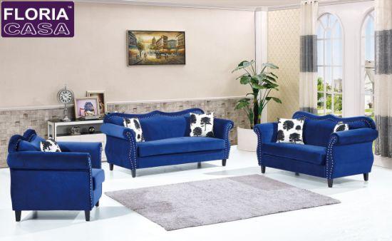 China European Modern Classics Fabric Sofa Black Leather Sofa