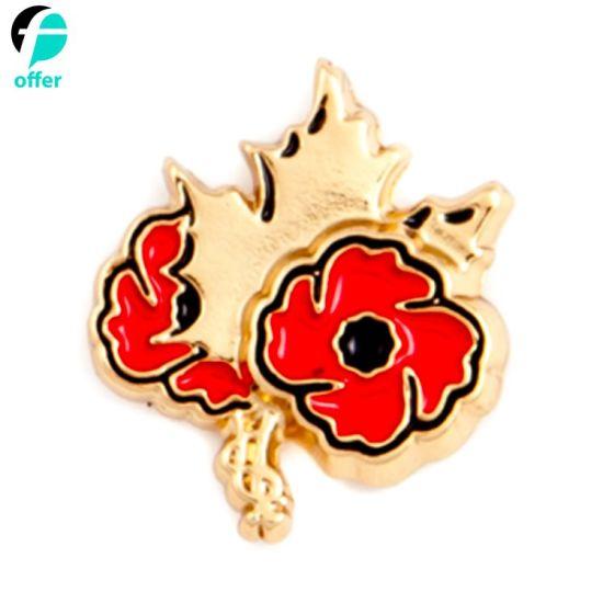 Veterans Affairs Canada Poppy Lapel Pin Badge