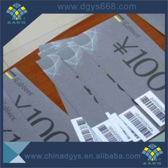 Custom Design Voucher&Coupon Paper Printing for Promotion pictures & photos