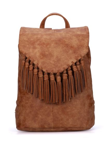 Vintage Big Backpack Bohemian Rucksack with Tassels Bolsos pictures & photos