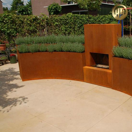 Outdoor Decorative Assembly Corten Steel Metal Planter