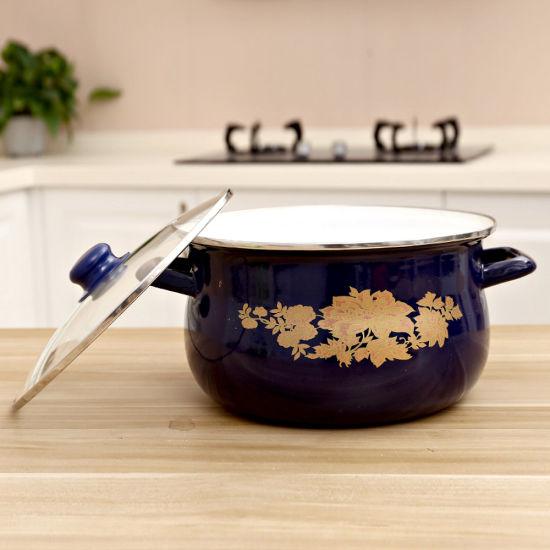 5PCS Enamel Cooking Pot Set Enamel Pot Set