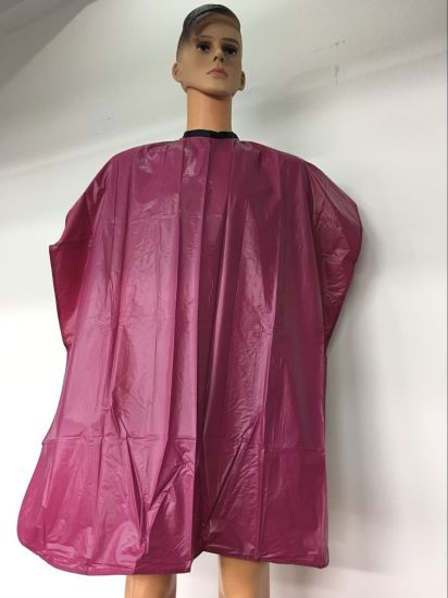 Pink PVC Shampoo Cape with Velcro Closure