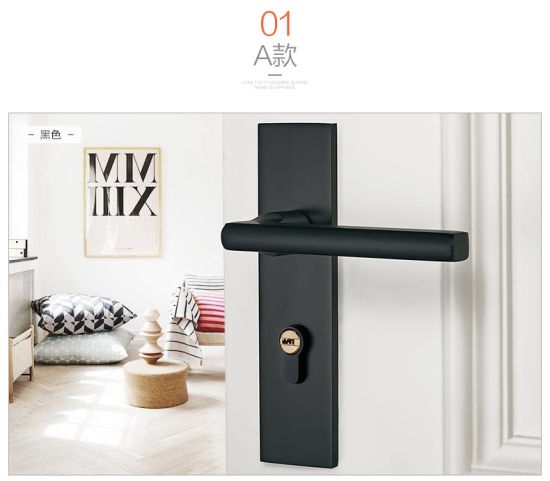 China Cl5909 Bedroom Door Lock Aluminum Alloy Solid Wood Door Handle