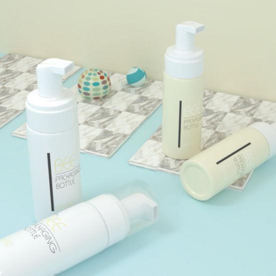 High Quality Liquid Soap Dispenser White Clear 100ml 150ml Pet Plastic Soap Foam Pump Bottle