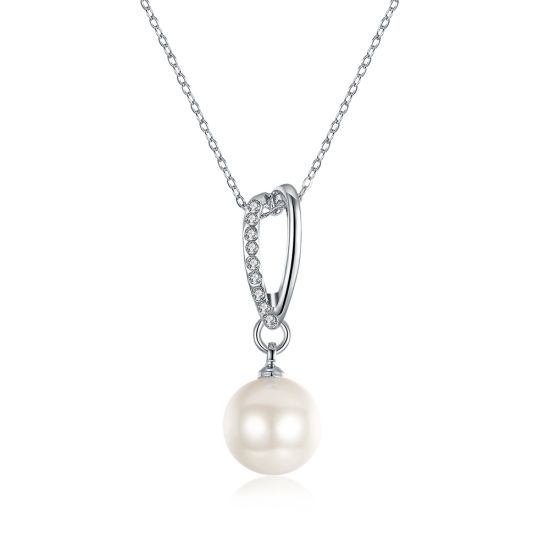 Latest Design Hot Sell Trendy Elegant Ladies Pearl White Gold Ball Pendant Jewellery Necklace