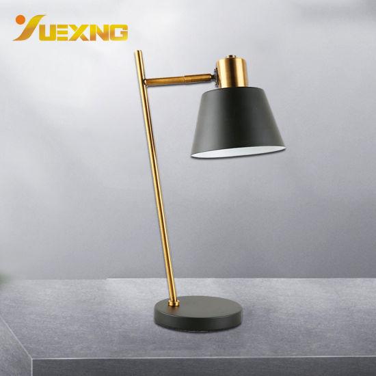 China E27 Black Gold Vintage Led Desk Lamps Bedroom Table Lamp Light China Desk Lighting Bedside Desk Light