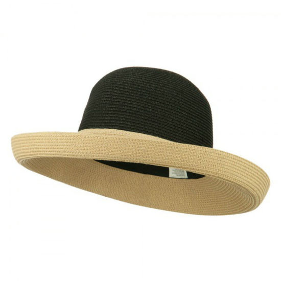 Upturned Brim Men's Upf 50+ Two Tone Roll up Hat