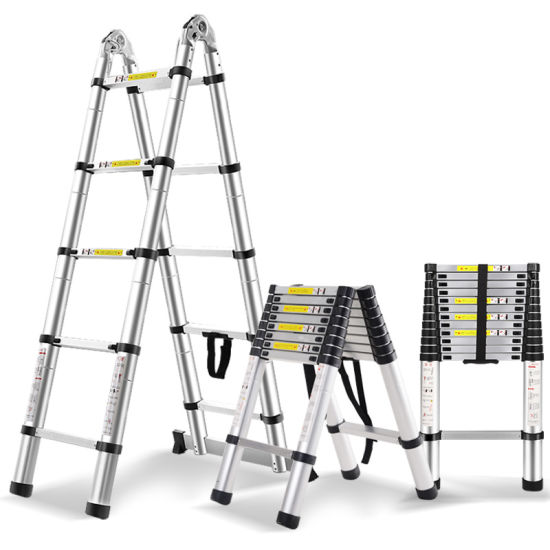 16.5FT Extension Folding Telescopic Aluminium a Frame Shape Ladder ...