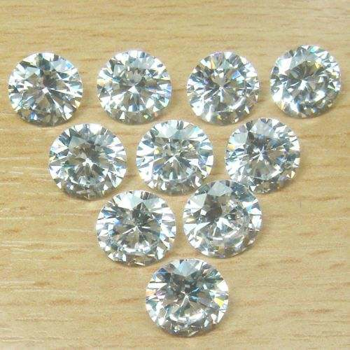 Def Color Machine Cut Round White Synthetic Moissanite Loose Stones