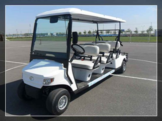 Battery 6 Person Electric Golf Car with Foot Board