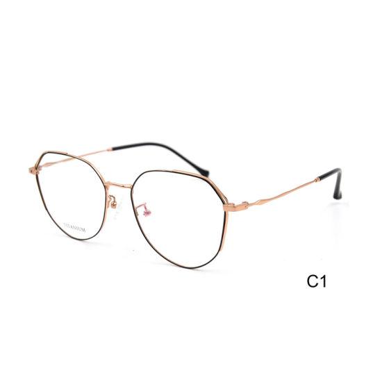 2019 New Fashion Design Semi Titanium Irregular Shape China Wholesale Custom Logo Optical Frame