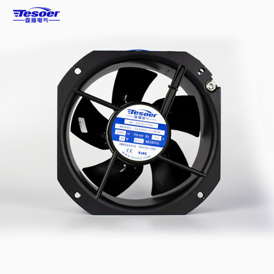 225X225X80mm AC Industrial Axial Cooling Fans/Blowers Made in China (TXA80S-225 Black)