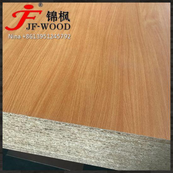1beech Color Melamine MDF/Melamine Face Particle Board ISO9001: 2008 Furniture AAA Grade E2 Glue