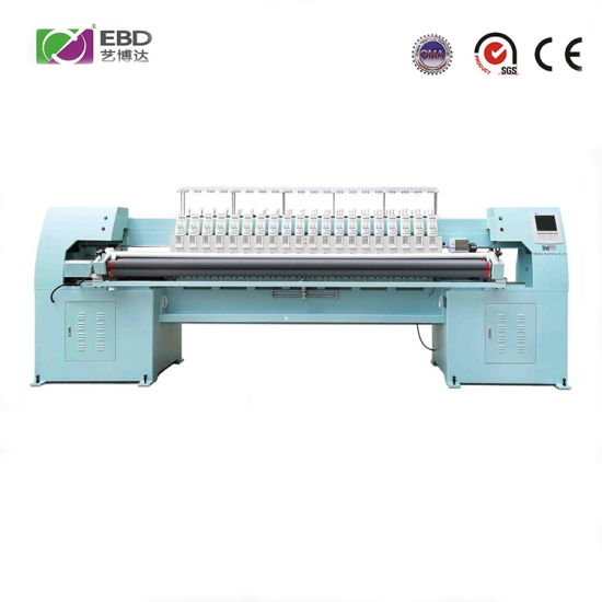 Ybd420 High Speed 4-Color Quilting Embroidery Machine Is Used in Home Textiles