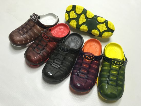 Men PVC and EVA Casual Sandals Garden Shoes Slippers with Good Price (FQF-8)