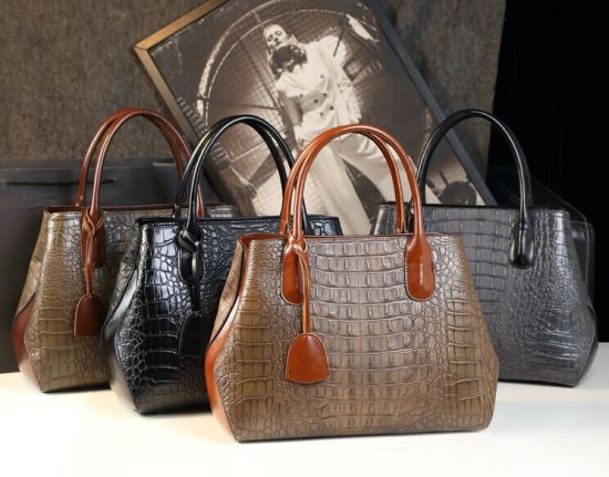 China 2019 Genuine Leather Crocodile/Allegator Patterns Tote ...