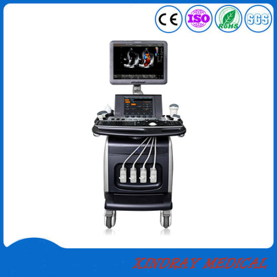 Medical Equipment Colorful Trolley Doppler Portable Digital Ultrasound pictures & photos