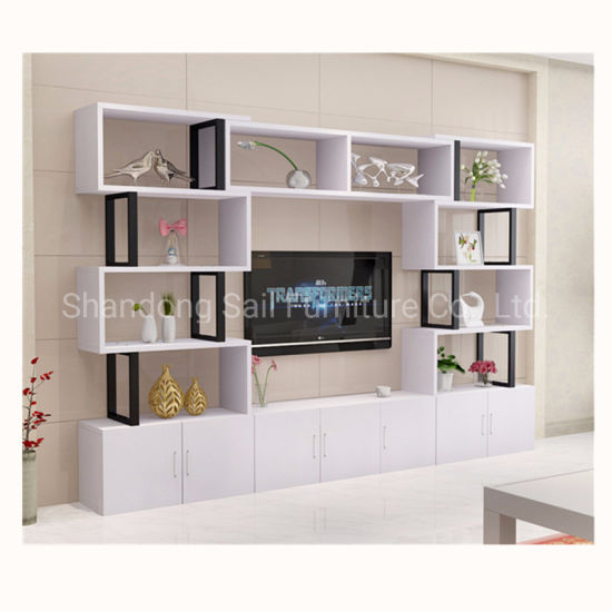 Irregular Bookshelf Tv Stand Wall