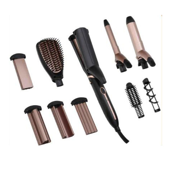 Multifunction Styler Hair Dryer Hair Straightener Curling Iron with Comb