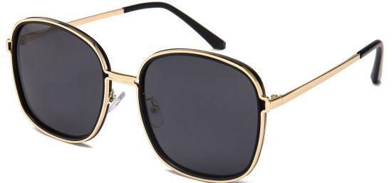 Oversize Sunglasses, Gold Square Eyewear Frame