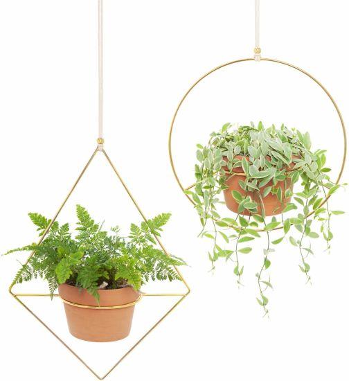 Metal Hanging Plant Modern Home Decor Planter Pot Hanger