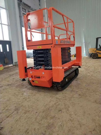 Hydraulic Crawler Scissor Lift Working Platform Rough Terrain Personal Track Electric Scissor Lift