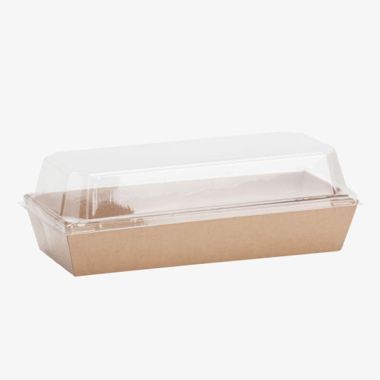 Paper Box with Clear Cover Plastic Cake Cream Container