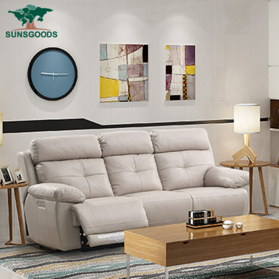 Elegant 3 Seater Sofa Recliner Leather