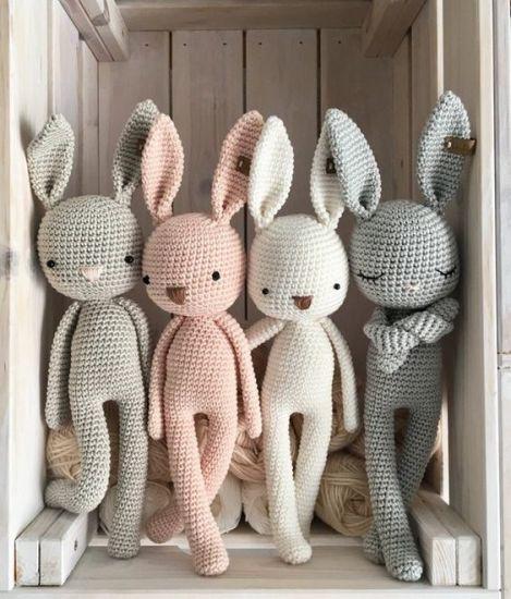 Bunny Amigurumi Crochet Pattern - Rabbit Crochet Pattern - Easter - | 550x469
