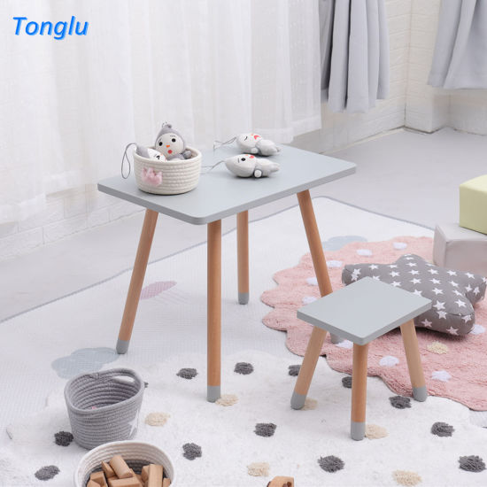 China Best Price Kids Learning Table Toddler Table Set Colorful