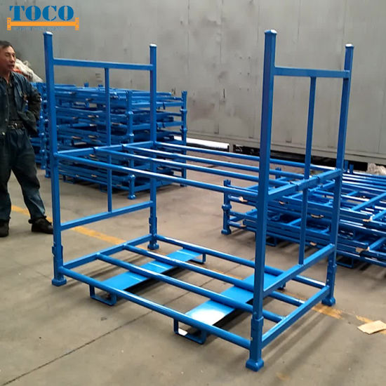 China Factory Painted Tyre Foldable Tyre Racking with Mesh Wall