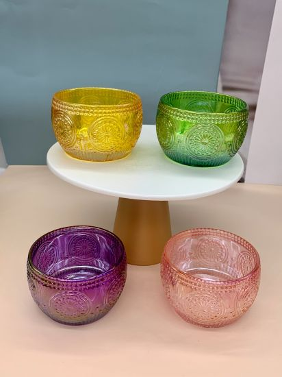 Factory Direct Color Pearlescent Glass Candlestick, Glass Container Jewelry Box, Glass Vases, Home Decoration