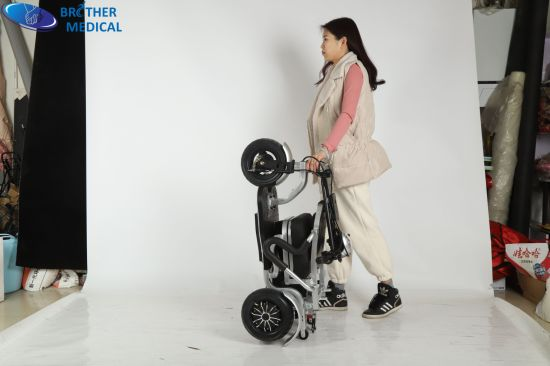 Portable Lightweight Aluminum Foldable Power Wheel Chair Cheap Price Disabled Folding Electric Wheelchair