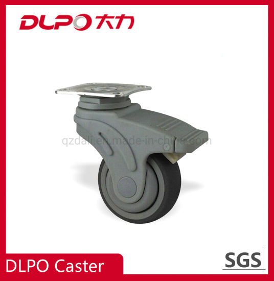 Dlpo Impact Resistance American Plate Lockable Wheel Castor with Double Brake
