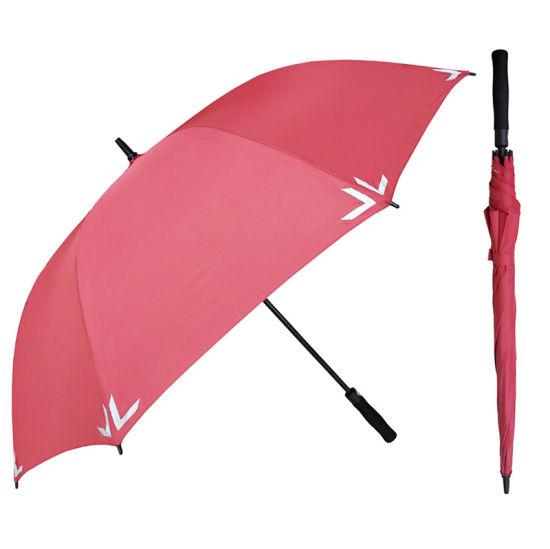 Reflective Safety Strip Large Size Golf Umbrella