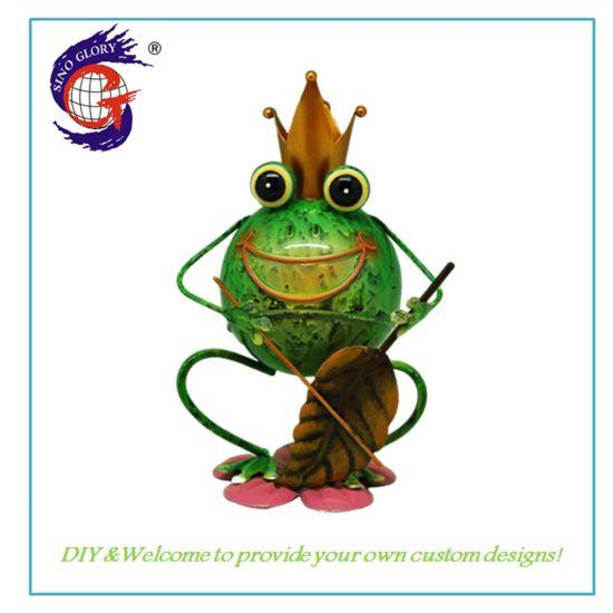China Metal Concrete Frog Garden Statue