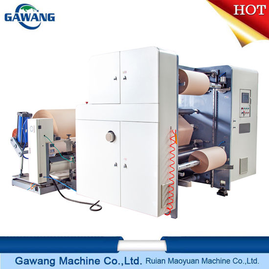 Continuous Feeding Cash Register/Bill Ticket/POS Paper/ATM Paper/Thermal Label Paper Slitting Rewinding Cutting Machine with CE