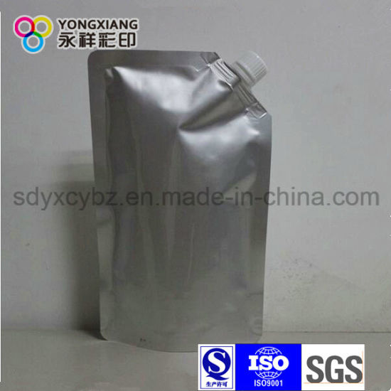 Multi Layer PA/PE Transparent Liquid Plastic Bags with Spout pictures & photos