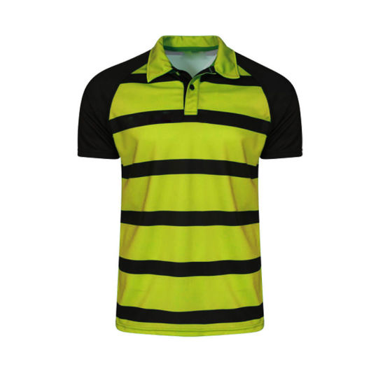 Sublimation Printed Striped Men Wholesale Cheap Polo Shirt pictures & photos