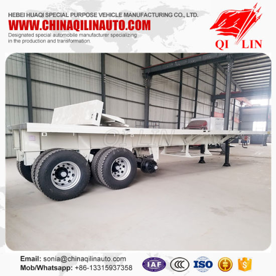 China Factory 40FT Flatbed Trailer Dimensions For Kenya