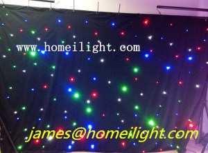 RGBW Star Cloth Lighting 3X6 Meter LED Star Curtain Wedding Event DJ Nightclub Stage Backdrop pictures & photos