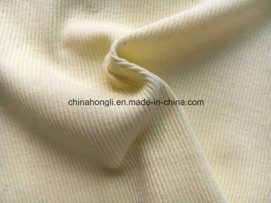2*2 Rib, 100%Cotton, 180GSM, Solid Knitting Fabric with Good Stretch