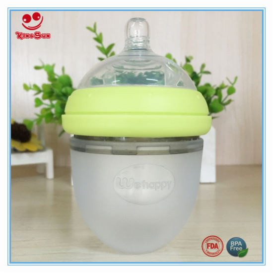 Food Grade Newborn Silicone Baby Feeding Bottle 120ml/220ml pictures & photos