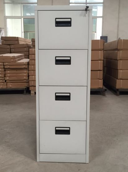 Office Use Steel 4 Drawer Storage Cabinet with Plastic Handle